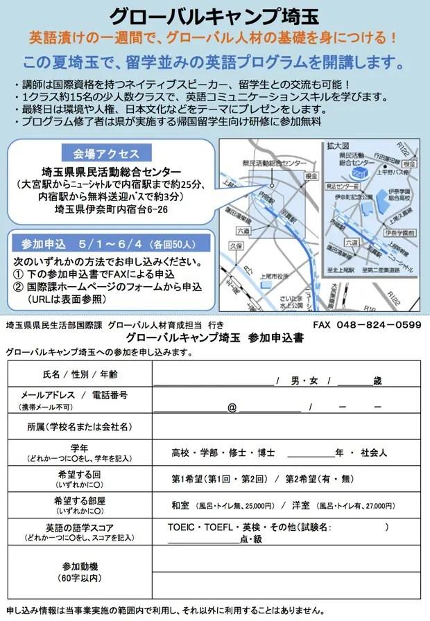 グローバルキャンプ埼玉2