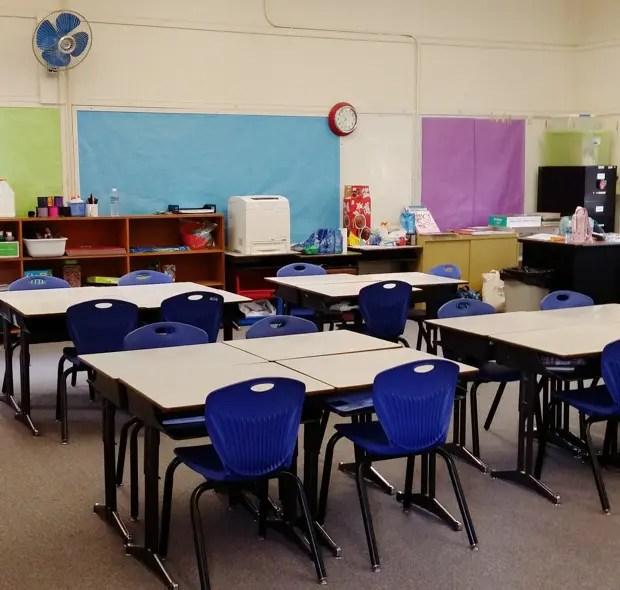 授業で使われた教室。