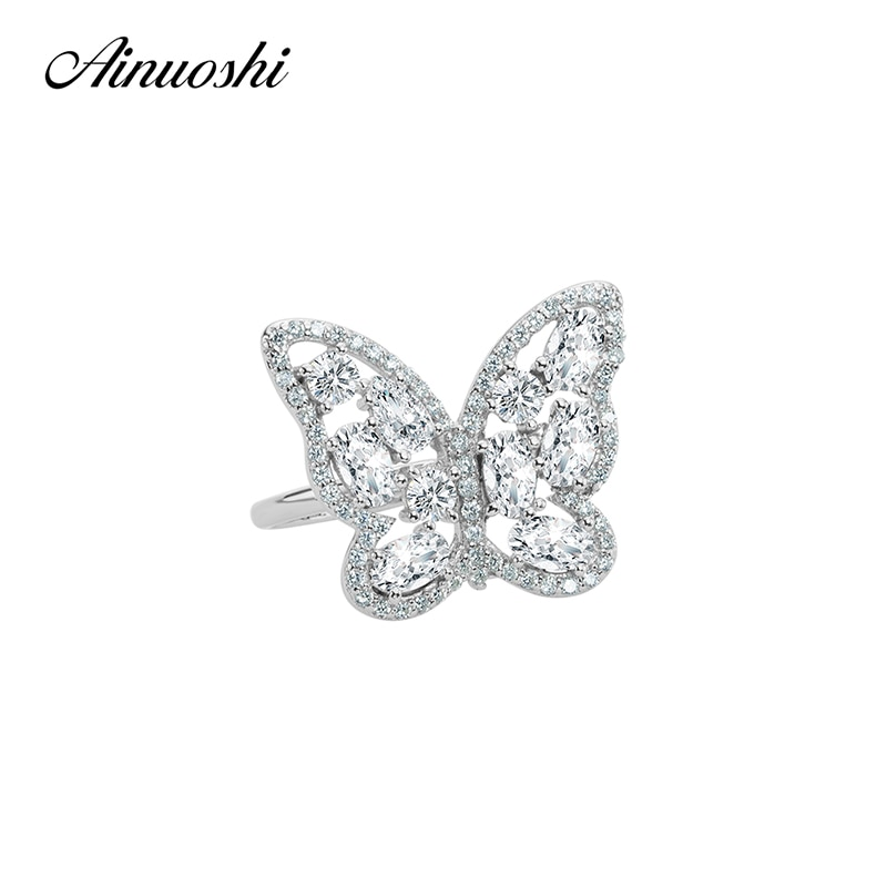 Women's Sterling Silver Ring Butterfly design ideal for