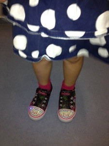 Skechers Twinkle Toes: Blinking Bling on her Toes