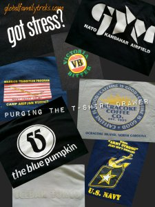 Spring Cleaning in Spurts: T-shirt Memories