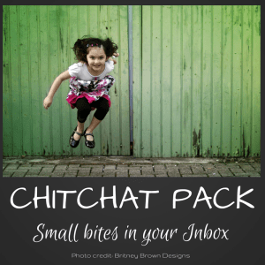 chitchat pack image small bites in your inbox