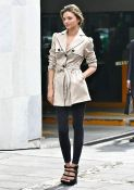Even a simple coat and tights look amazing