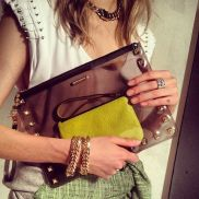 Rebecca Minkoff- the transparent trend is definitely potent.