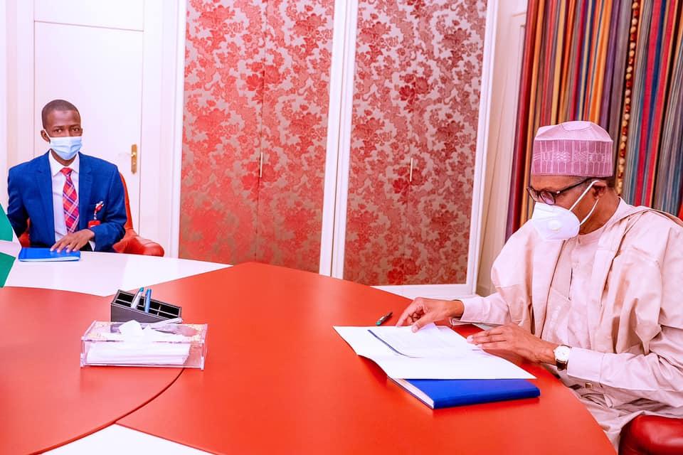 Buhari and new EFCC chief Bawa