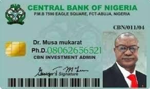 Fake CBN Investment scheme