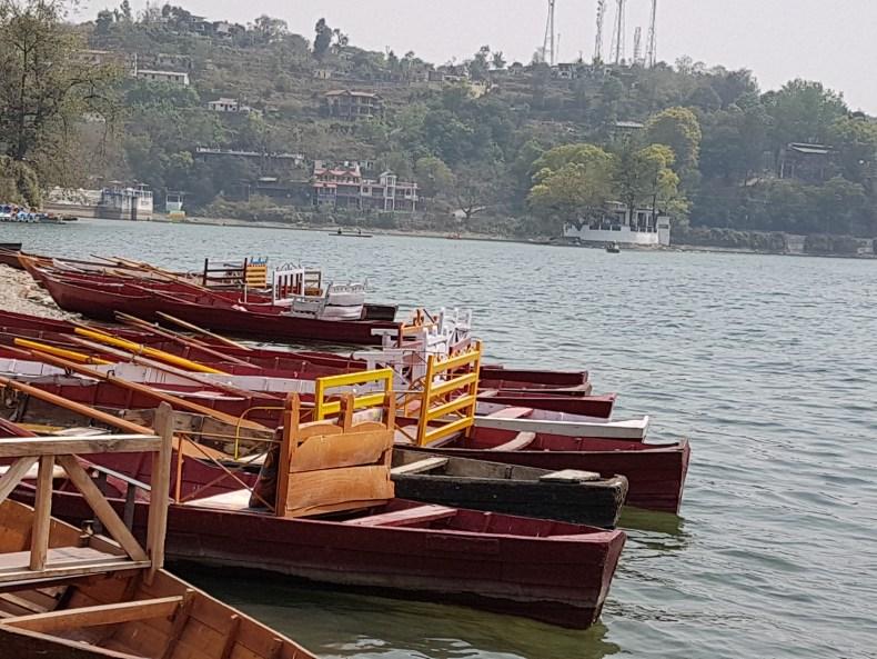 The boats await at Naukuchiatal lake