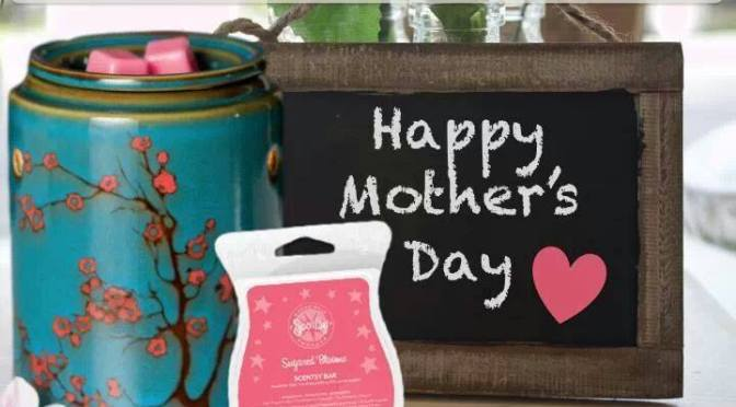 April 2014 Scentsy Warmer and Scent Of The Month – Cherry Tree Warmer and Sugared Blooms Scentsy Bar