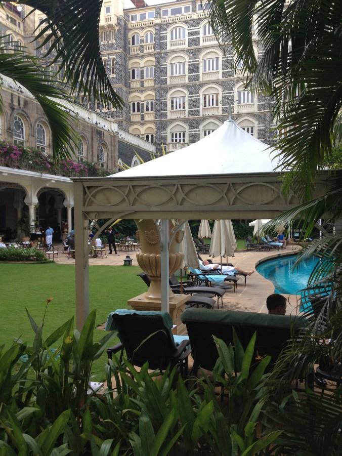 Swimming pool at the Taj Mumbai