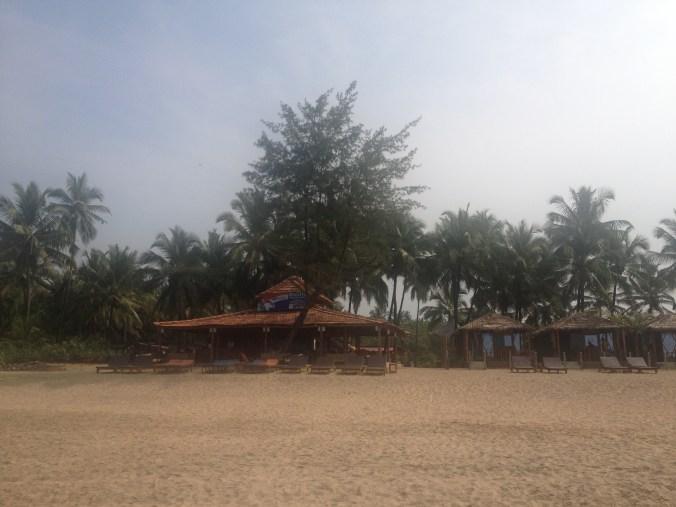 Madhu Beach huts on Agonda Beach South Goa