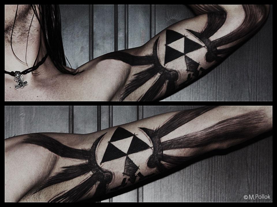 Awesome Legend Of Zelda Triforce Bicep Tattoo Pic Global Geek News