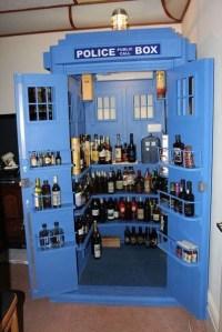 Doctor Who TARDIS Liquor Cabinet for Alcoholic Whovians ...