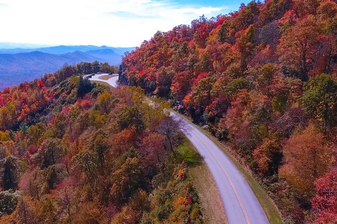 asheville aerial colors road