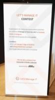 Oprawa graficzna konferencji - projekt rollup na konkurs na wydarzeniu IT Manager of Tomorrow 2017