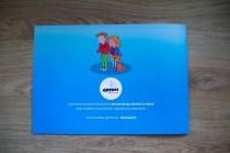 tył okładki książeczki dla dzieci Odprowadzam Sam