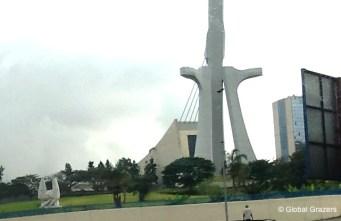 The ultra-modern Cathédrale Saint Paul d'Abidjan is a dominant feature of Abidjan's skyline.