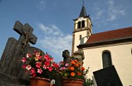 church and graveuard in Lupstein