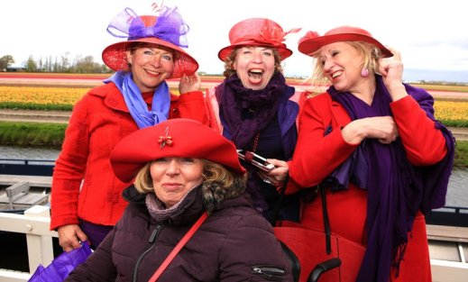 Red hat ladies at Keukenhof