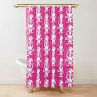 Global Gym Bunny Shower Curtain