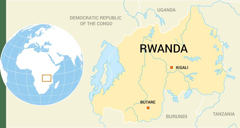 Between Map Rwanda Uganda And Boundary