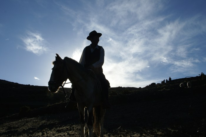 On the island of Amantaní in the midst of the blue waters of Lake Titicaca, a sign of wealth is to own a horse. There are only two horses on the island.