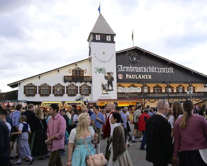 Oktoberfest beer tent