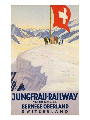 Jungfrau Railway Vintage Poster