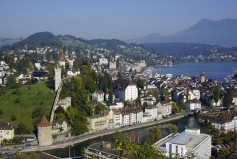 View of Lucerne from Chateau Gutsch