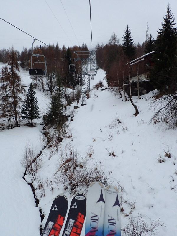 Riding Ski Lift