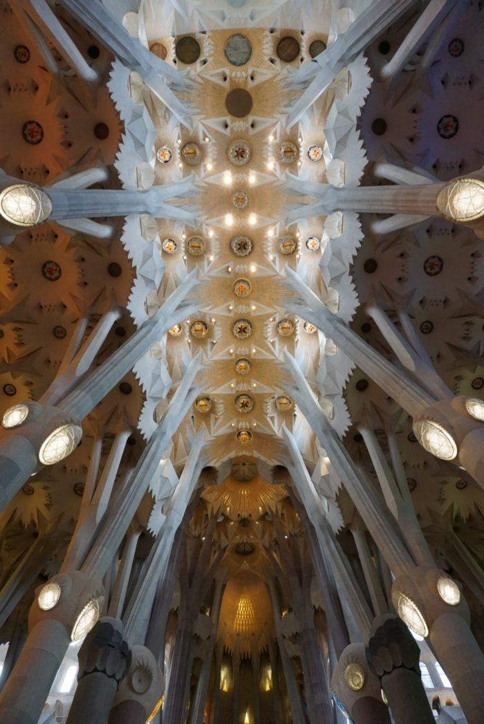 La Sagrada Familia Interior Ceiling