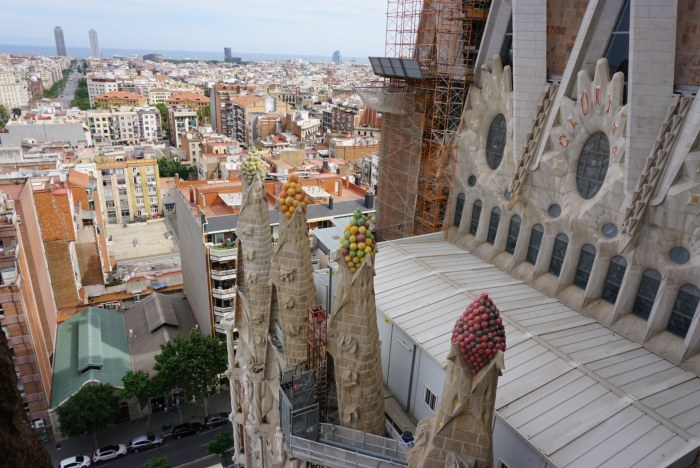 Construction on La Sagrada Familia