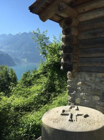 Swiss Path Stone Markers Unterwalden
