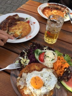 Eating at the Oeschinensee