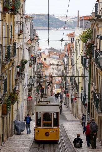 Lisbon streetcar hill