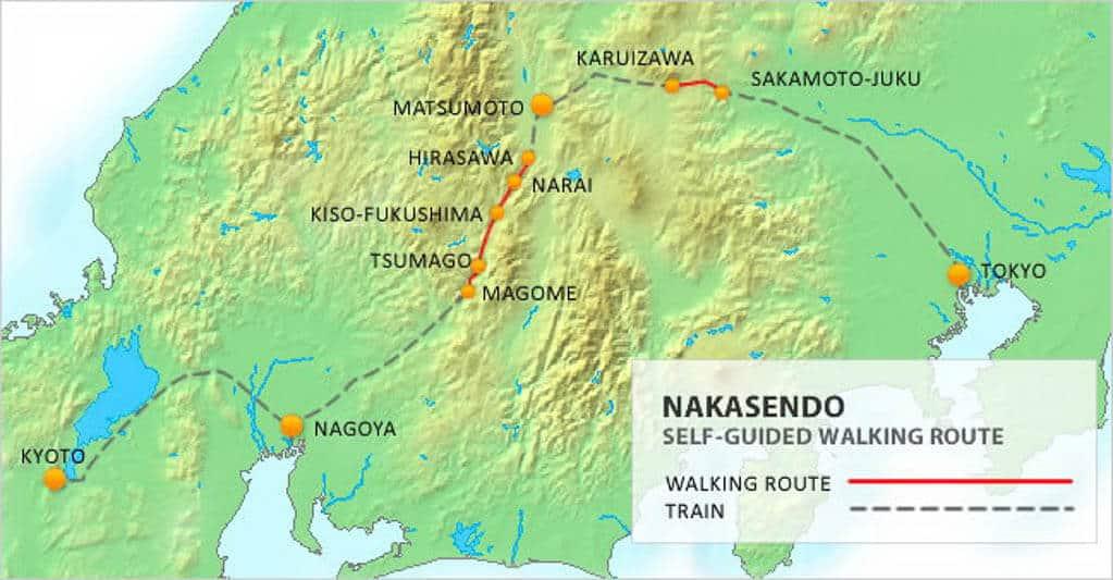 Nakasendo Trail Map