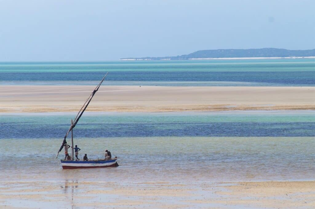 The beach in Mozambique, Africa