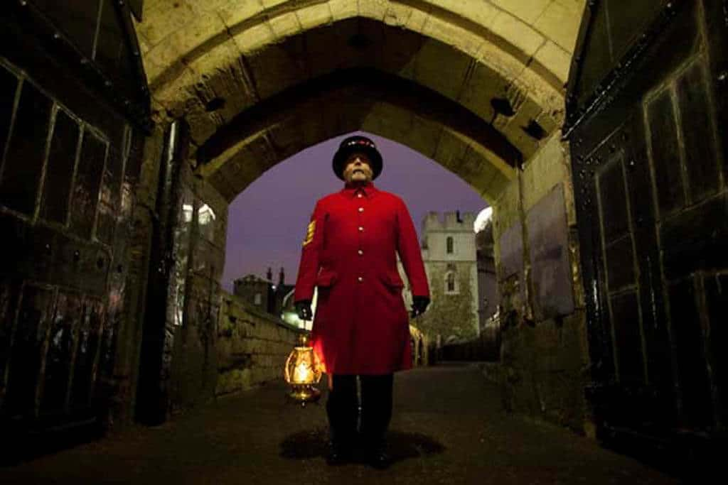 The ceremony of the keys at the Tower Of London