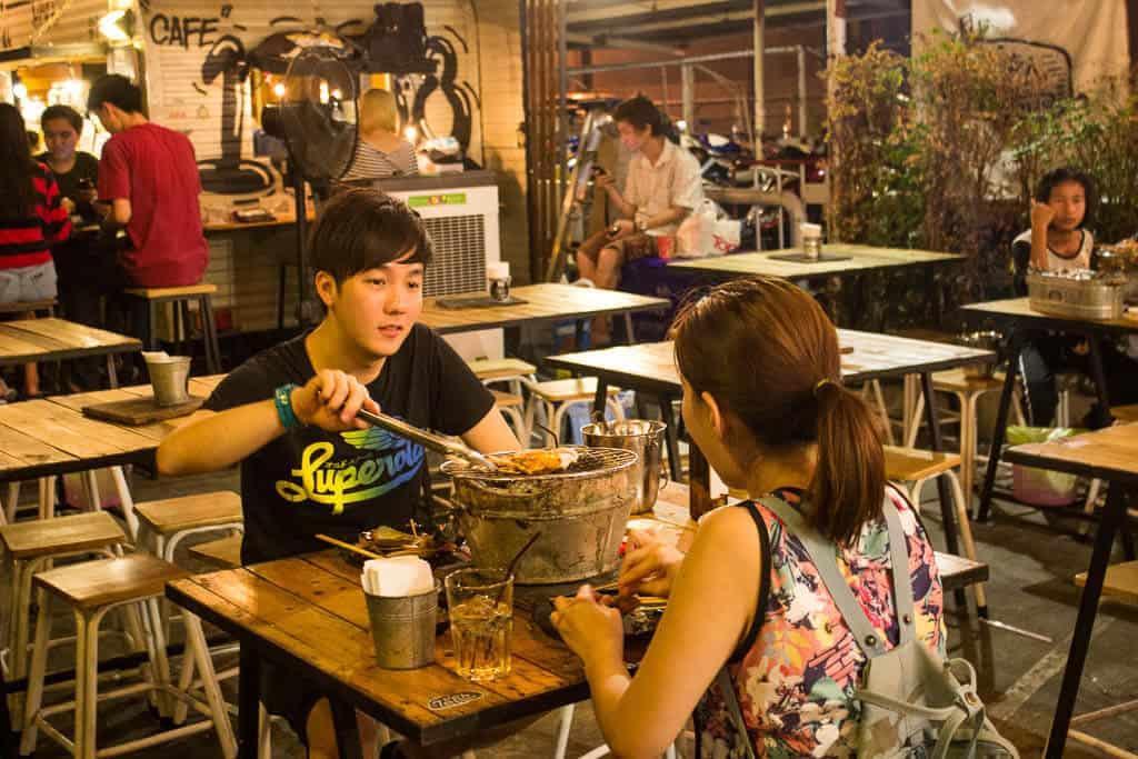 Locals at Rot Fai Market