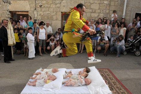 The Bizarre Baptism of the Baby Jumpers