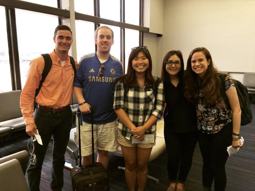 From the left: Camden Kelliher, Jim Vesey, Anh Nguyen, Maura Edwards and Natasha Tax