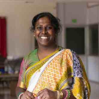 A photo of Akkai Padmashali smiling