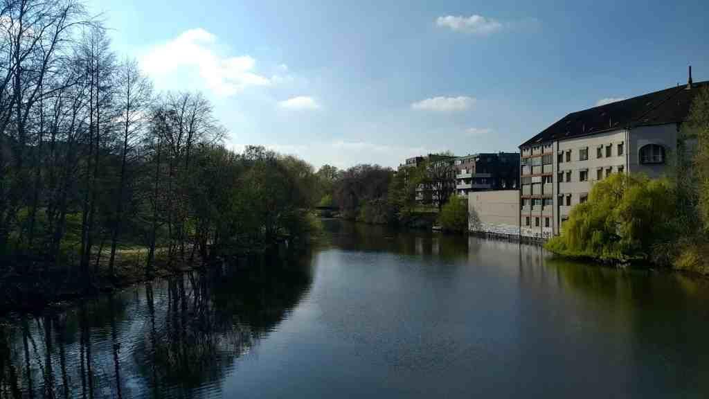Barmbek Canal Hamburg Germany