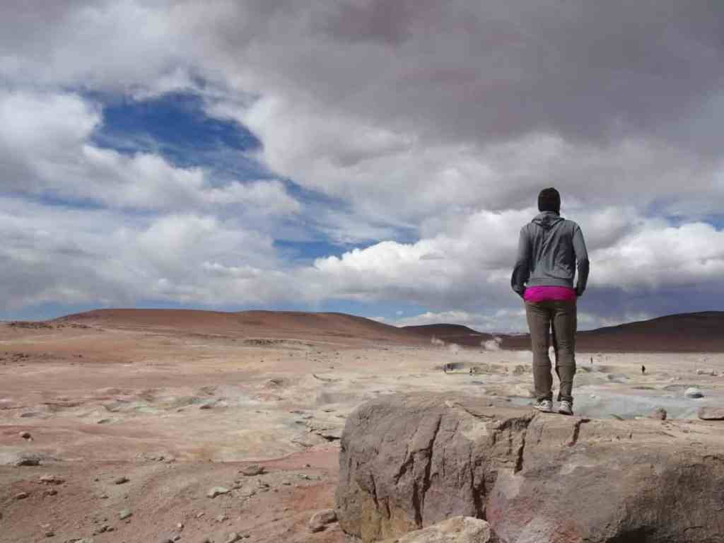 Geysers in Southern Bolivia