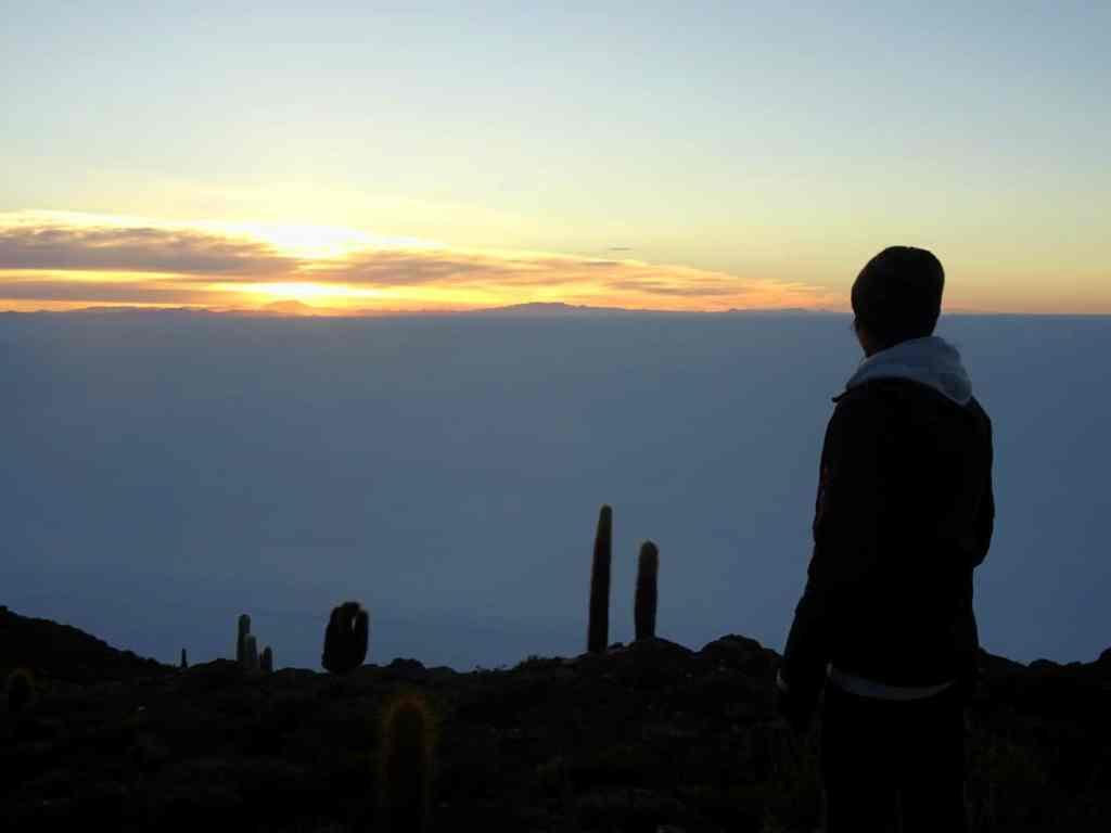 sunrise over Salar de Uyuni