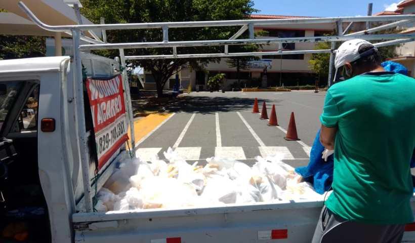 Donativos de parroquias e instituciones hicieron posible la entrega de alimentos a migrantes venezolanos