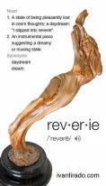 "Artist: Ivan Tirado Title: ""Reverie"" by Ivan Tirado. Cold cast bronze."