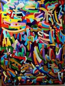 Artist: Yosef Reznikov Title: Meditation composition 4