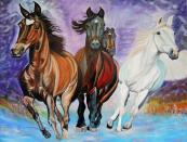 Artist: Martha De Cunha Maluf-Burgman Title: Horses in motion