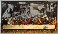 Artist: Vered Terry Title: Picasso's Last Suppep with a few of the wives