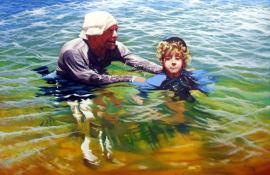 Artist: Stephen Kaldor Title: The Swimming Lesson